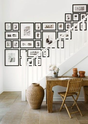 Stair gallery wall