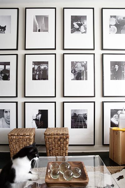 Black And White Gallery Wall arttoframes blog :gallery walls 101getting started