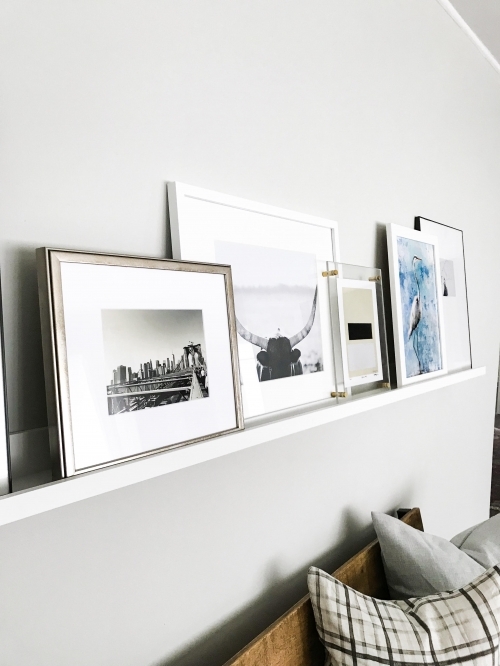Satin White Frame Shelfie